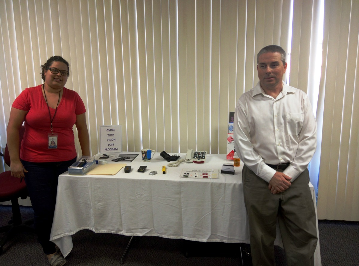 DMC Staff Michelle and Paul at AVL resource table