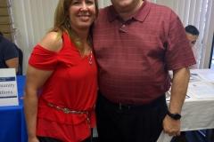 Community Relations Coordinator, Lani posing with Board VP, Mike Ryan