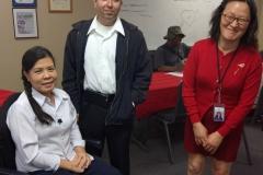 DMC Staff Christine, Miguel and Wendy