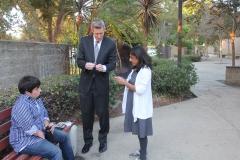 Magician Randy G with Board Member Hufsa