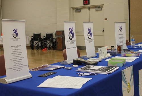 Services Picture of DMC resource table at an event