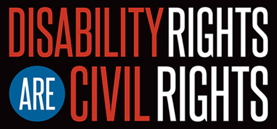 Blog 3. graphic stating disability rights are civil rights call to action