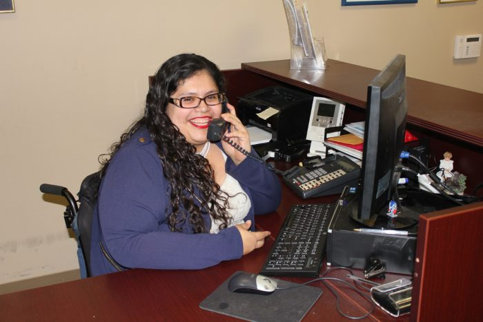 Information and Referral Coordinator on telephone