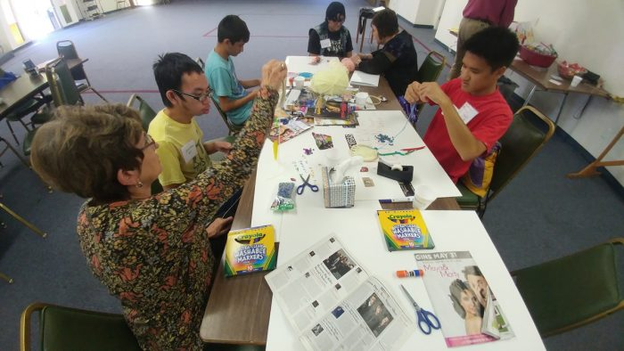 Youth transistion group working on crafts