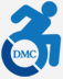 A small icon image of a stick figure man in a wheel chair that says DMC in the middle.