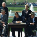 President Bush signing the ADA