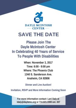 40th Anniversary Save the Date Flyer